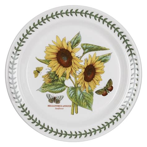Portmeirion Botanic Garden Dinner Plates Portmeirion Botanic Garden Sunflower 10 5 Inch Dinner Plate Set Of 6 Portmeirion Usa