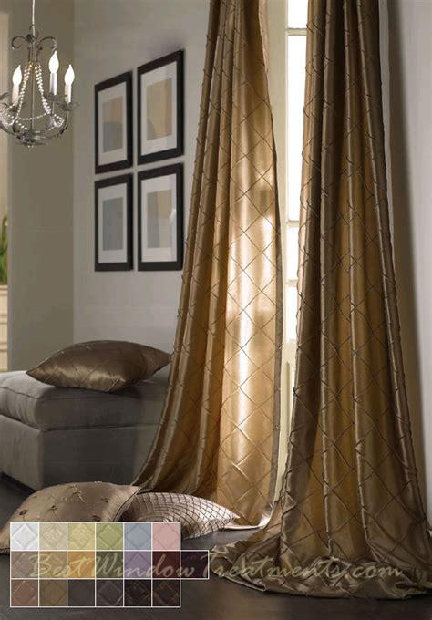 120 long drapes colchester diamond pintuck taffeta faux silk fabric in
