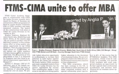 Cima Mba by Ftmsglobal In News Media Ftmsglobal Academy