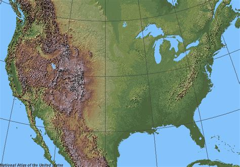 map usa relief maps usa map mountains