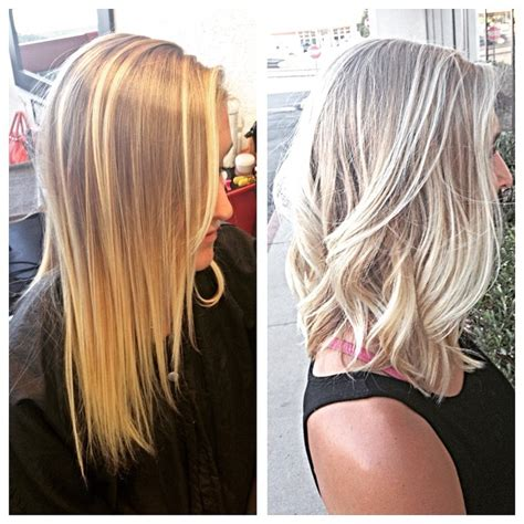 using pale ash blonde hair dye to transition to gray light ash blonde hair colar and cut style