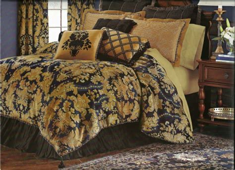new classic royal black gold luxurious comforter set king