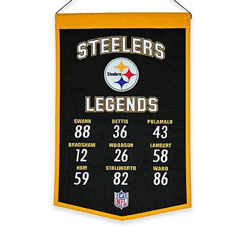bed bath and beyond pittsburgh nfl pittsburgh steelers legends banner bed bath beyond