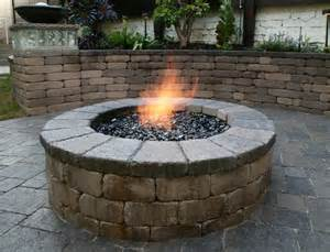 Block Firepit Patio Pits Gas Outdoor Pits Pit With Retaining Wall Blocks Interior Designs