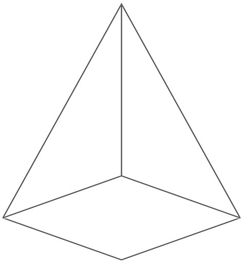 How To Make A 3d Pyramid Out Of Paper - pyramid 3d shape pencil and in color pyramid
