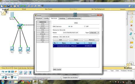 cara konfigurasi dns server di packet tracer cara membuat simulasi server dns menggunakan cisco packet