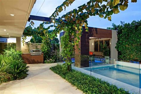 earthly backyard with pool and grill pictures photos and