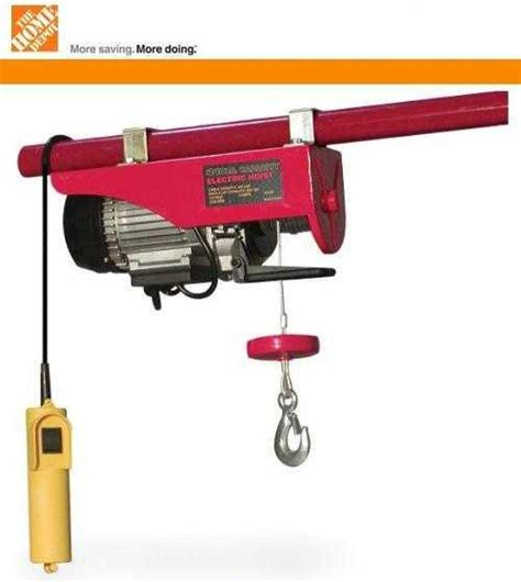 How To Install A Hoist In Garage by How To Hang A Electric Hoist The Home Depot Community