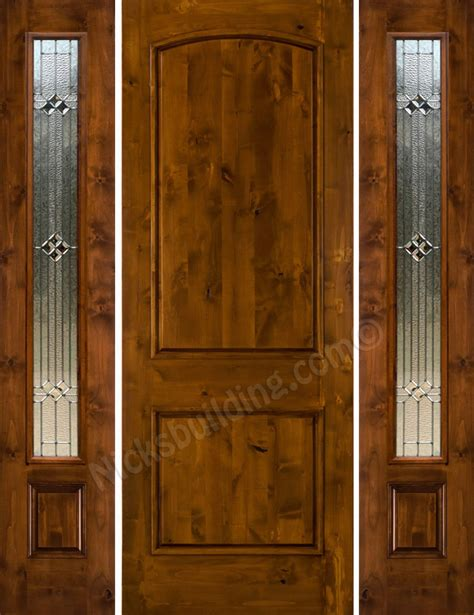 Knotty Alder Exterior Doors Knotty Alder Sw 66 With 2 Side Lights