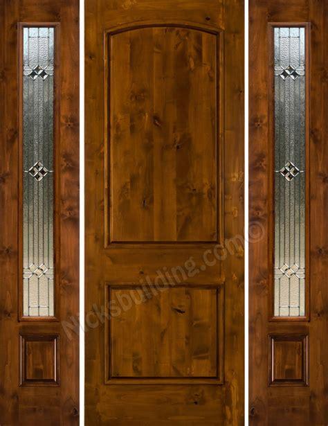 Knotty Alder Front Doors Knotty Alder Sw 66 With 2 Side Lights