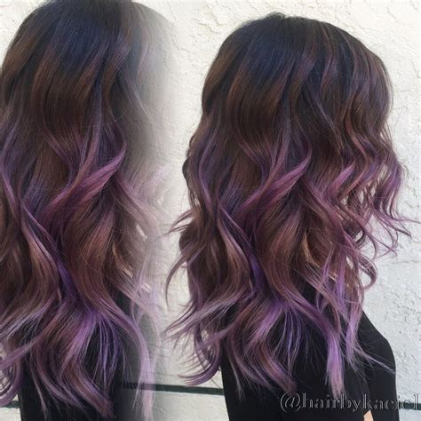 dark on bottom ombre hair color for brunettes purple ombre balayage black hairstyles pinterest