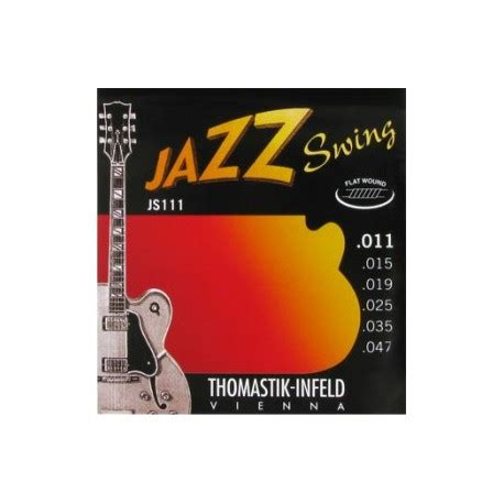 thomastik infeld jazz swing thomastik js111 jazz swing flatwound 11 47 electric guitar