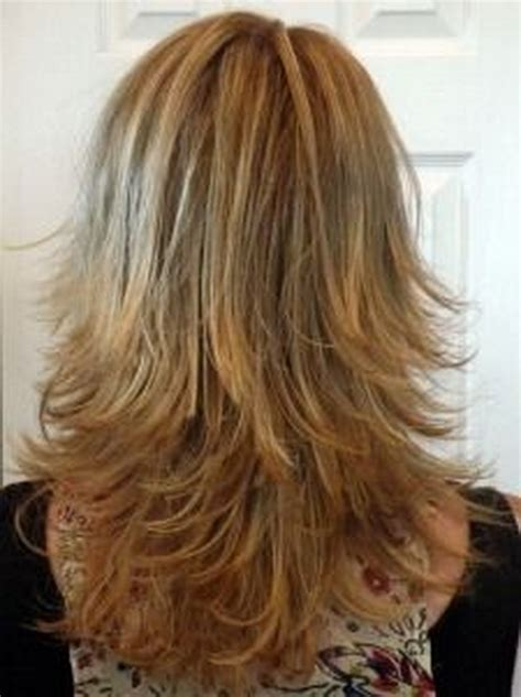 haircuts for long hair front and back view medium long layered hairstyles back view