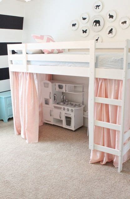 girls bedroom bunk beds diy loft bed diy tented loft bed young house love