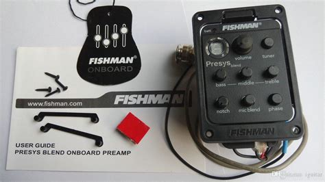 Dijamin Fishman Presys Blend fishman presys blend 301 dual mode guitar pre eq tuner piezo equalizer system with mic