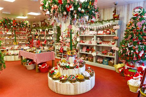 cute little christmas shop full of decorations full hd