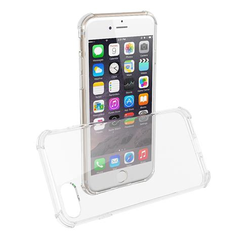 Plating Transparant Soft For Iphone 7 Plus silicone mobile phone transparent hybrid tpu bumper and anti scratch pc clear