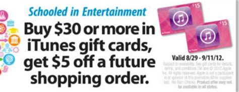 Can You Return An Itunes Gift Card To Walgreens - safeway 50 itunes gift card for as little as 30