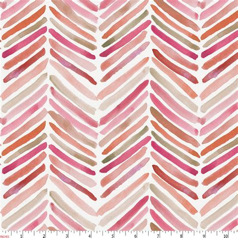 bedding fabric pink painted chevron fabric by the yard coral fabric