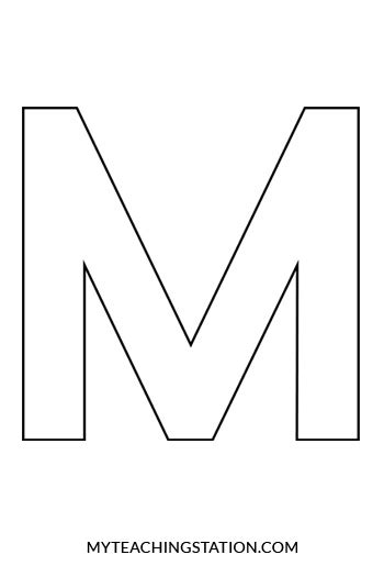 printable letter m template www imgkid com the image