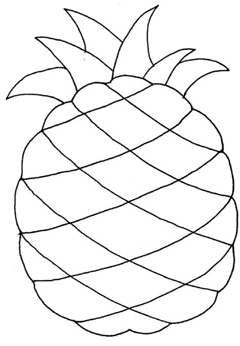 pineapple coloring pages fruit pineapple fruits coloring pages pinterest craft