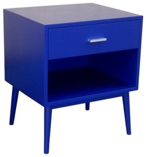 contemporary bedside table ls threshold blue one drawer accent table contemporary