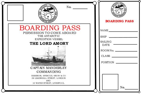 printable titanic boarding pass template propnomicon the last expedition