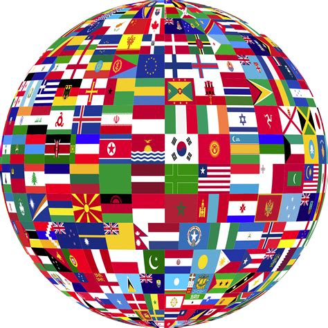 flags of the world png clipart world flags globe 3
