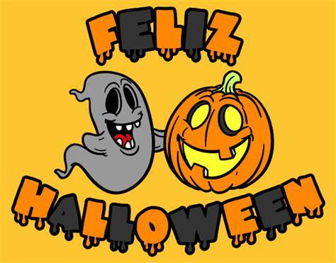 imagenes de halloween que digan feliz halloween dibujo de feliz halloween pintado por temarita en dibujos