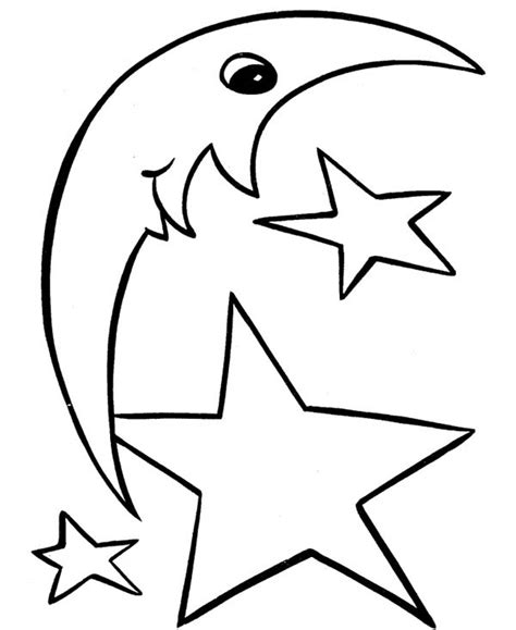 printable moon and star shapes star dragoncity free coloring pages