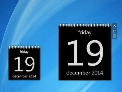 Windows 7 Calendar Gadget Black Calendar Windows 7 Desktop Gadget