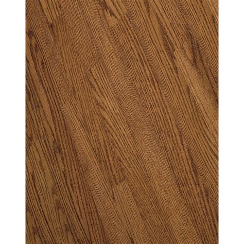 shop bruce bayport strip 2 25 in w prefinished oak hardwood flooring gunstock at lowes com