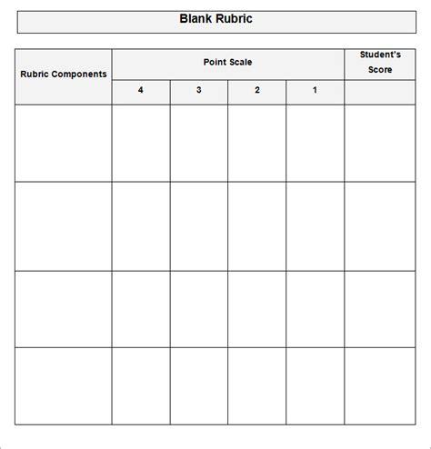 blank rubric template rubric template free premium