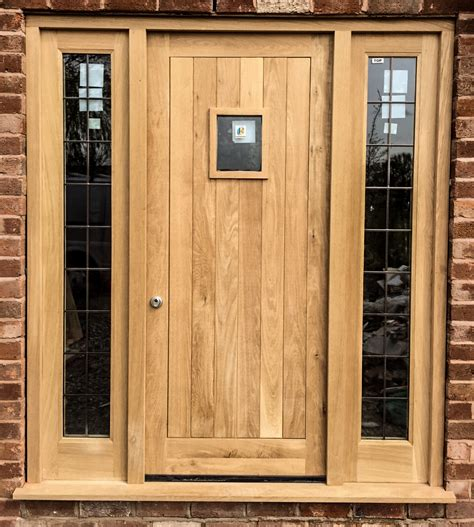 Oak Exterior Doors Oak Front Door Frame Side Lights Set Made For A Customer In Dunham On The Hill Chester