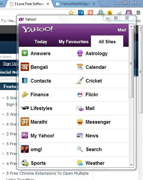 check yahoo email quota extension to check yahoo mail in chrome yahoo mail widget