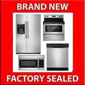 4 piece kitchen appliance package stainless steel frigidaire 4 piece stainless steel kitchen appliance