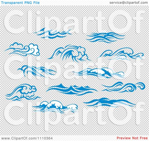 clipart blue and white ocean surf waves 5 royalty free