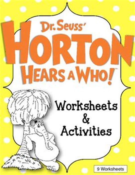 dr seuss 4 cmo 8448844645 horton hears a who worksheets and activities dr seuss