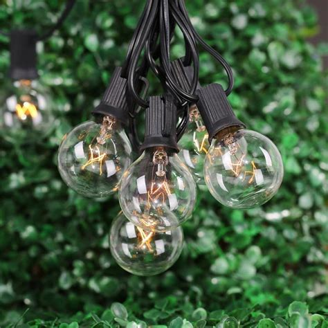 Patio String Lights Clearance 100 Lights On Clearance Patio Solar Lights For Pa Outdoor Globe String Lights Target
