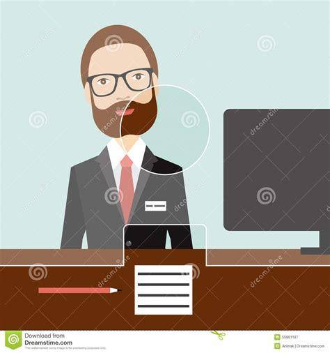 bank clerk clerk in a bank stock vector image 55861187