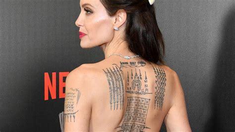 angelina jolie tattoo blut und eisen angelina jolie zeigt bei filmpremiere ihr riesiges r 252 cken