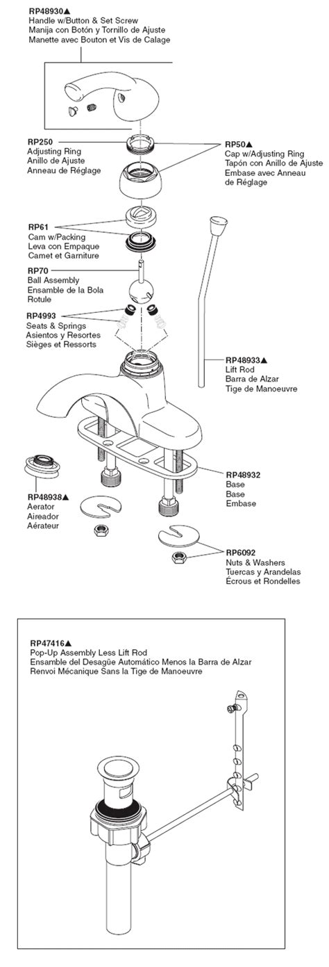 plumbingwarehouse delta bathroom faucet parts for
