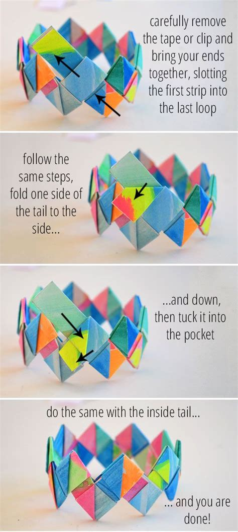 How To Make Things Out Of Paper Step By Step - 25 best ideas about paper bracelet on paper