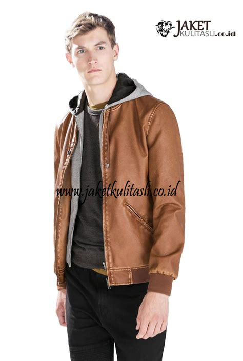 Jaket Kulit Pria Kupluk jaket kulit kupluk pria asli a785