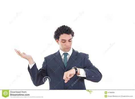 Man waiting looking at watch image