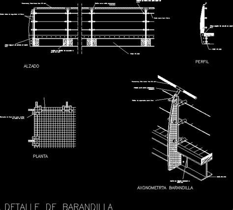 barandilla dwg railing detail design handrail to balcony or just a