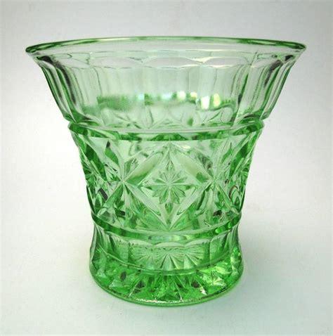 Glass Vases Australia by Impressive Large Crown Green Depression Glass Vase