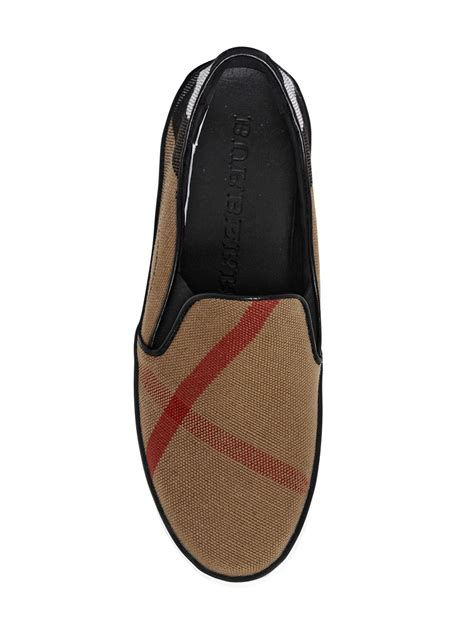 burberry sneakers for burberry gauden macro check slip on sneakers in