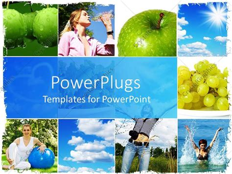 powerpoint templates free download healthy lifestyle powerpoint template healthy living concept with fruits