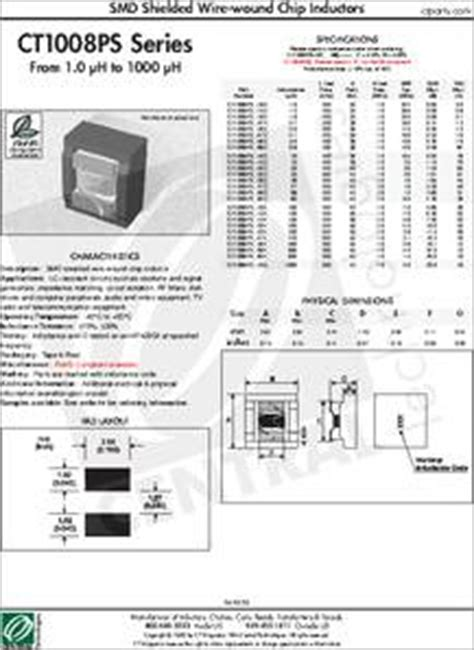 chip inductor datasheet ct1008ps 224k datasheet smd shielded wire wound chip inductors